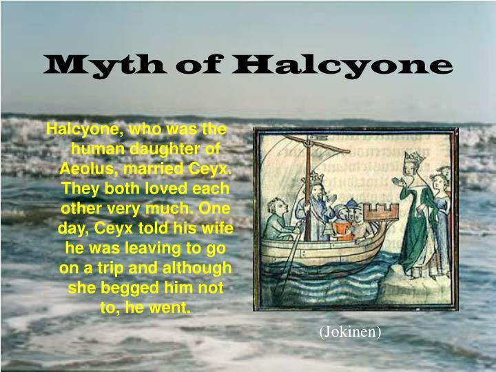 Myth of halcyone