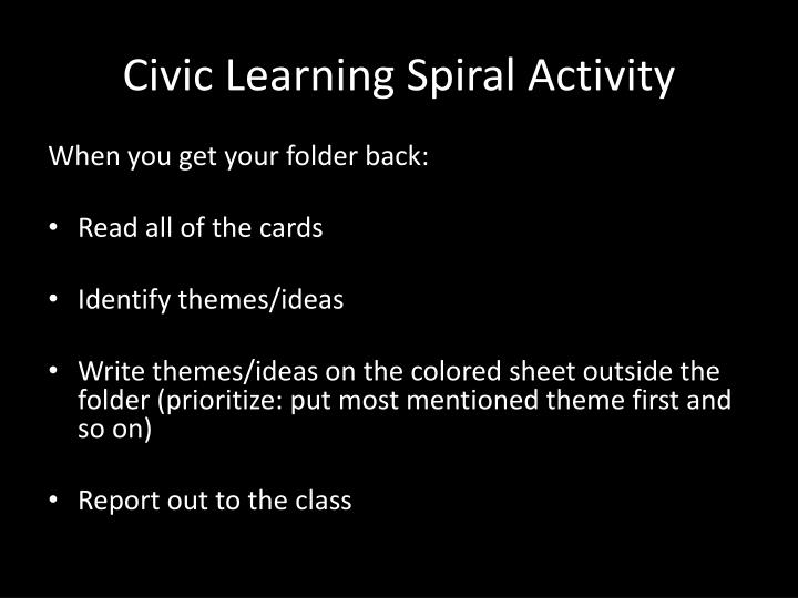 Civic Learning Spiral Activity