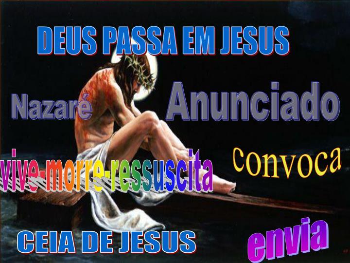 DEUS PASSA EM JESUS