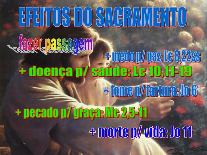 EFEITOS DO SACRAMENTO