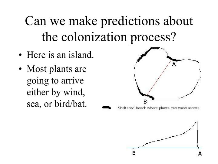 Can we make predictions about the colonization process?