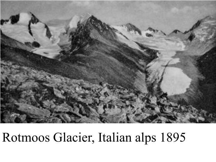 Rotmoos Glacier, Italian alps 1895