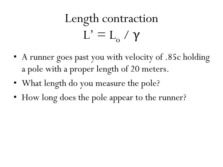 Length contraction