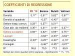 coefficienti di regressione
