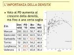 l importanza della densita