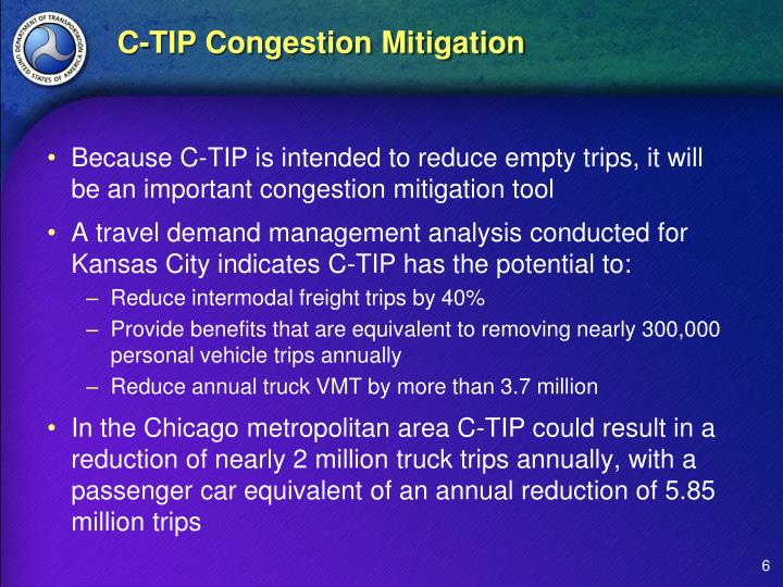 C-TIP Congestion Mitigation