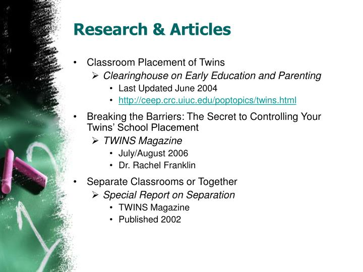 Research & Articles