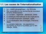 1 1 les causes de l internationalisation