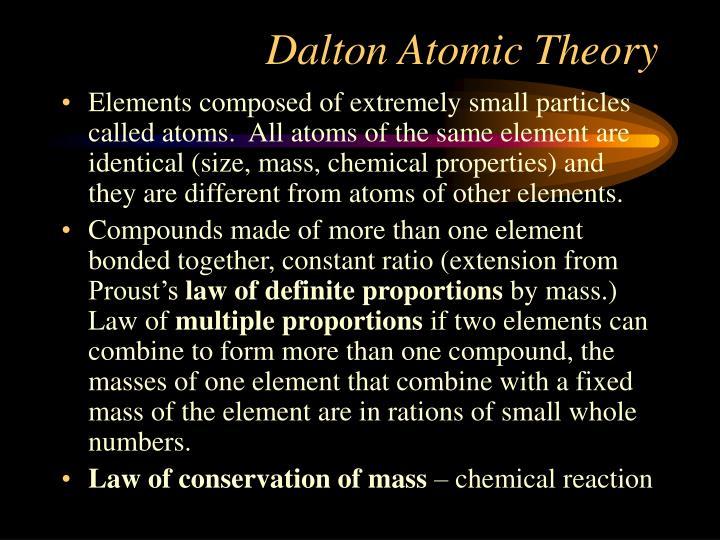 Dalton Atomic Theory