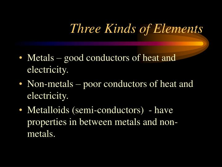 Three Kinds of Elements