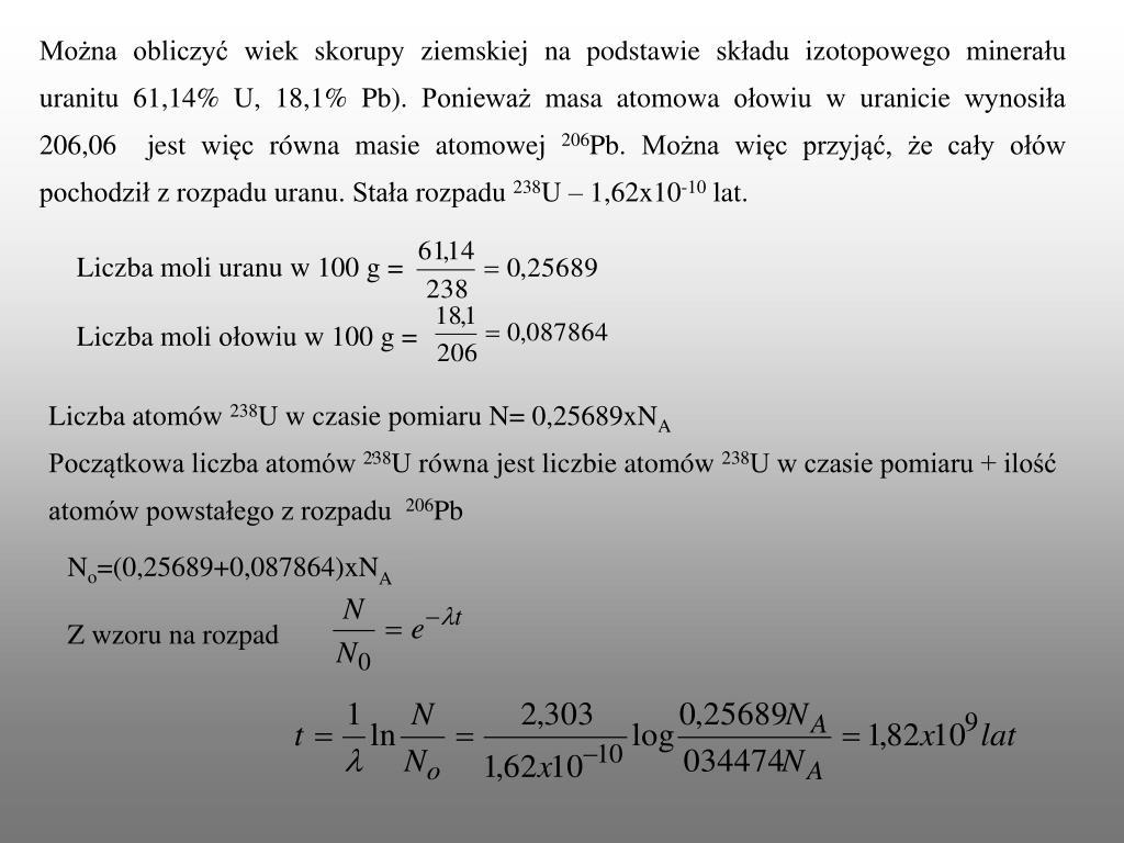 Definicja datowania serii uranu