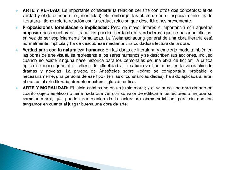 ARTE Y VERDAD: