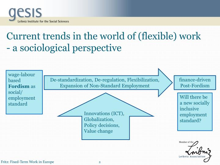 Current trends in the world of (flexible) work