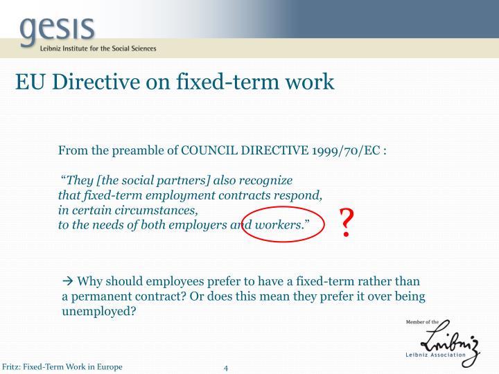 EU Directive on fixed-term work
