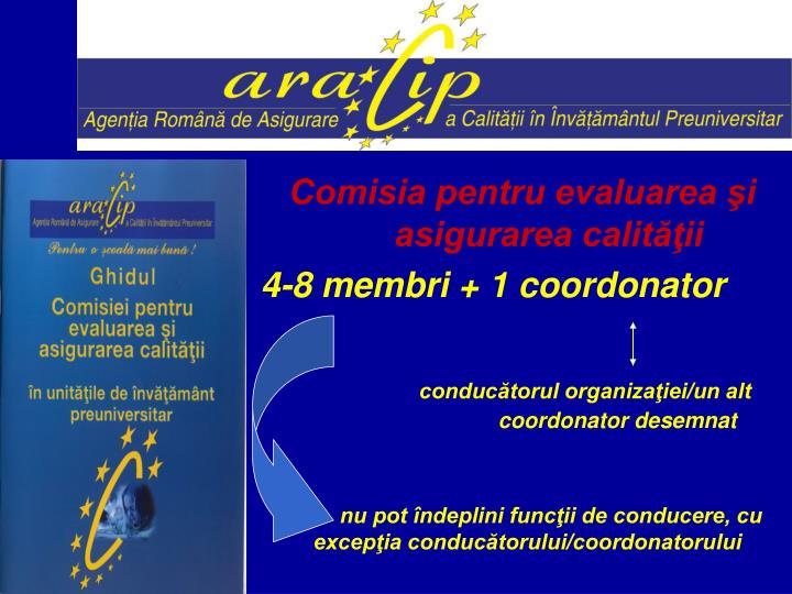 Comisia pentru evaluarea şi asigurarea calităţii