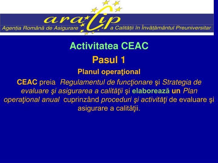 Activitatea CEAC