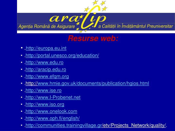 Resurse web: