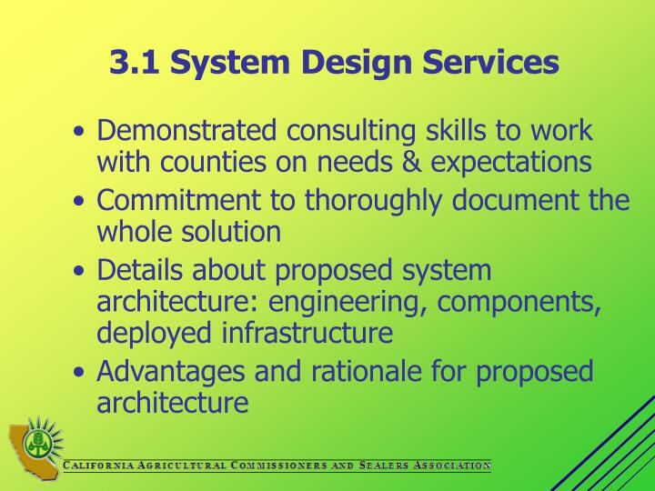 3 1 system design services