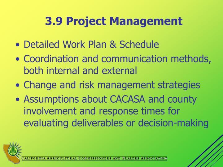 3.9 Project Management