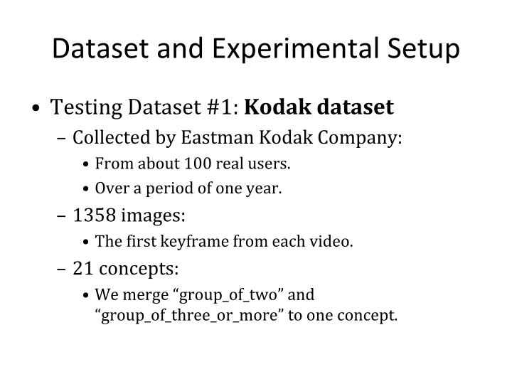 Dataset and Experimental Setup