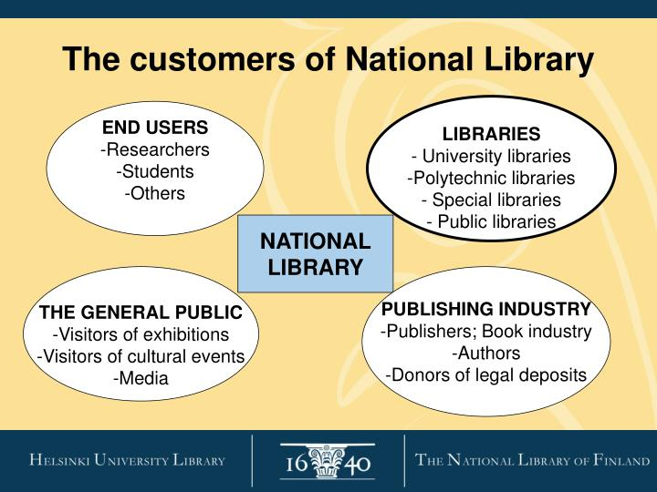The customers of National Library