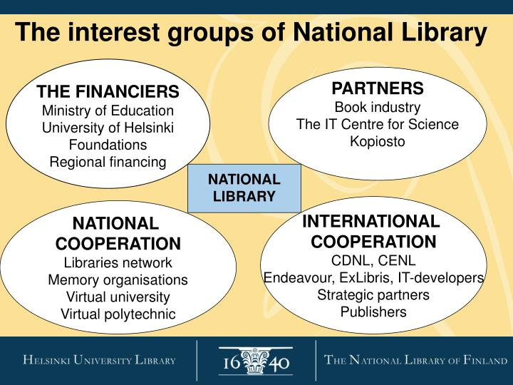 The interest groups of National Library