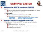 gridftp for castor