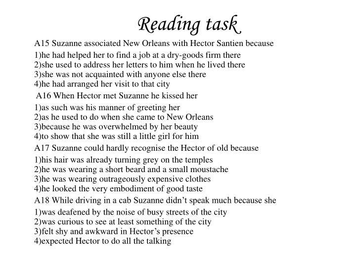 Reading task