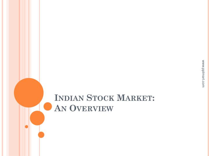 indian stock market an overview n.
