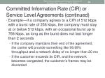 committed information rate cir or service level agreements continued
