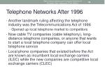 telephone networks after 1996