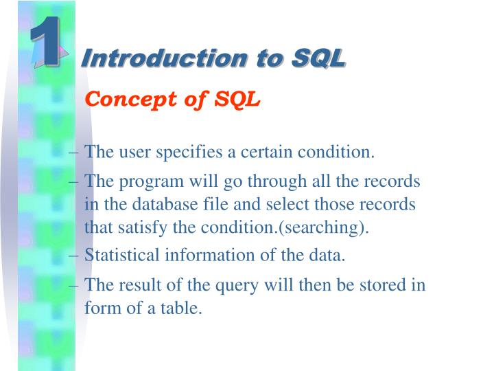 Introduction to sql1