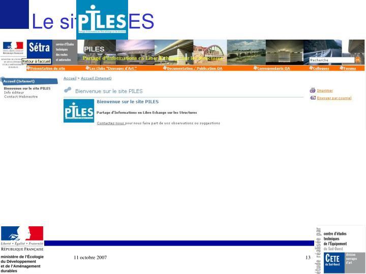 Le site PILES