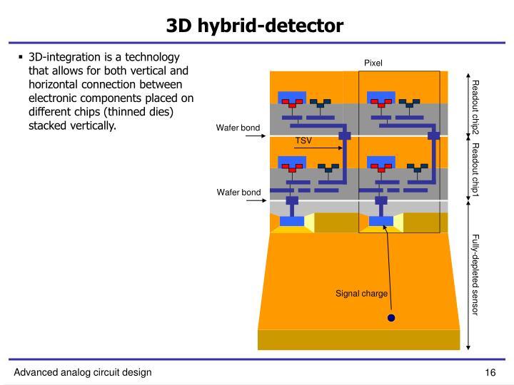 3D hybrid-detector
