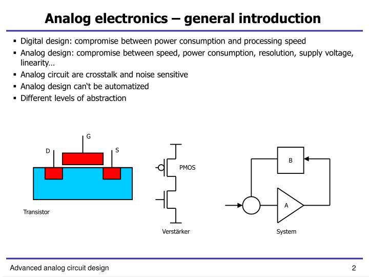 Analog electronics general introduction1