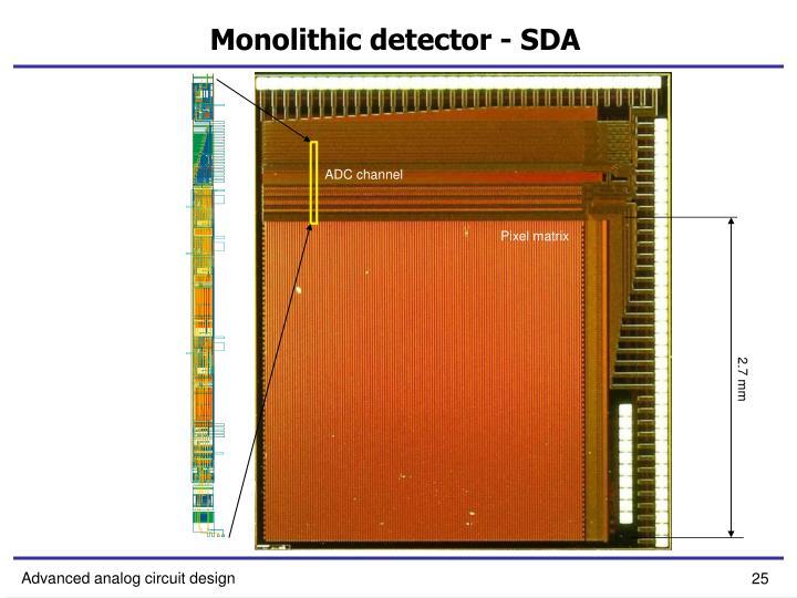 Monolithic detector - SDA
