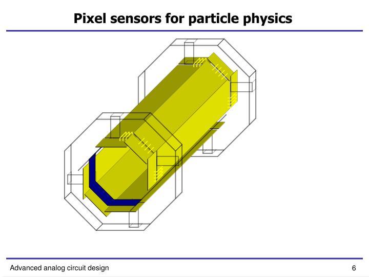 Pixel sensors for particle physics