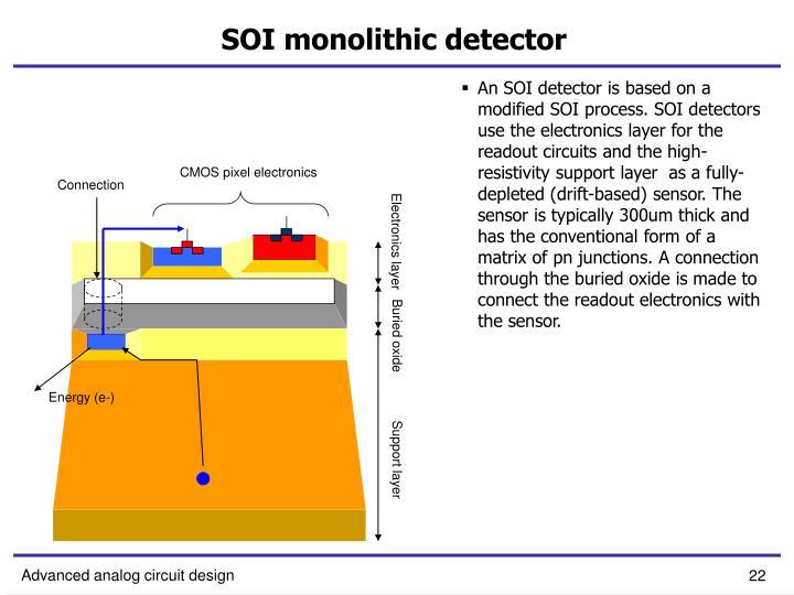 SOI monolithic detector