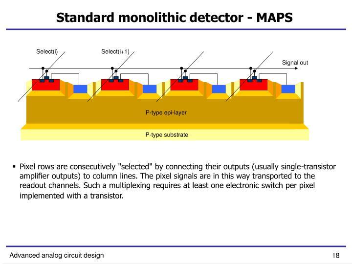 Standard monolithic detector - MAPS