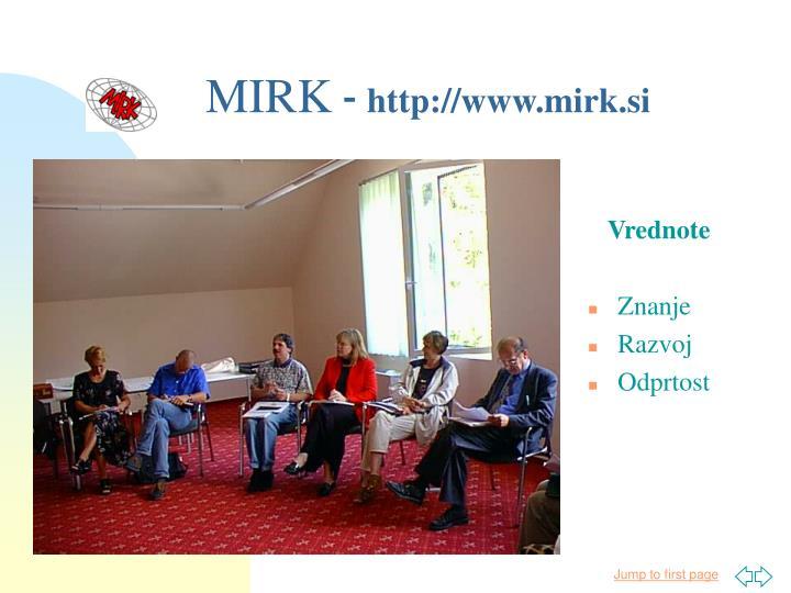 Mirk http www mirk si