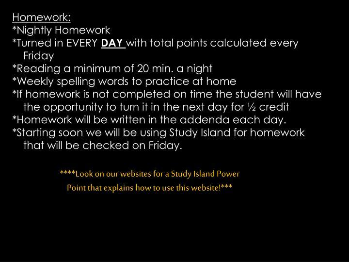 mrs padian homework website