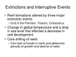 extinctions and interruptive events