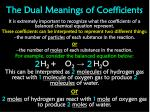 the dual meanings of coefficients