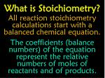 what is stoichiometry1