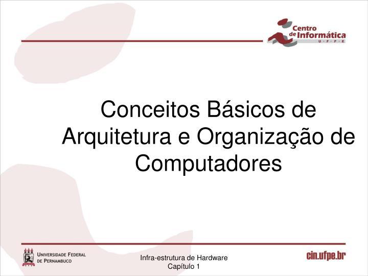 Conceitos Básicos de Arquitetura e Organização de Computadores