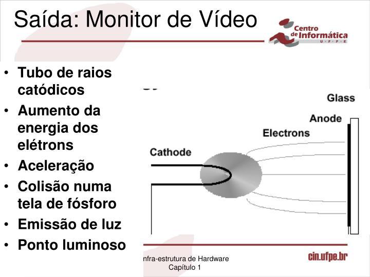 Saída: Monitor de Vídeo