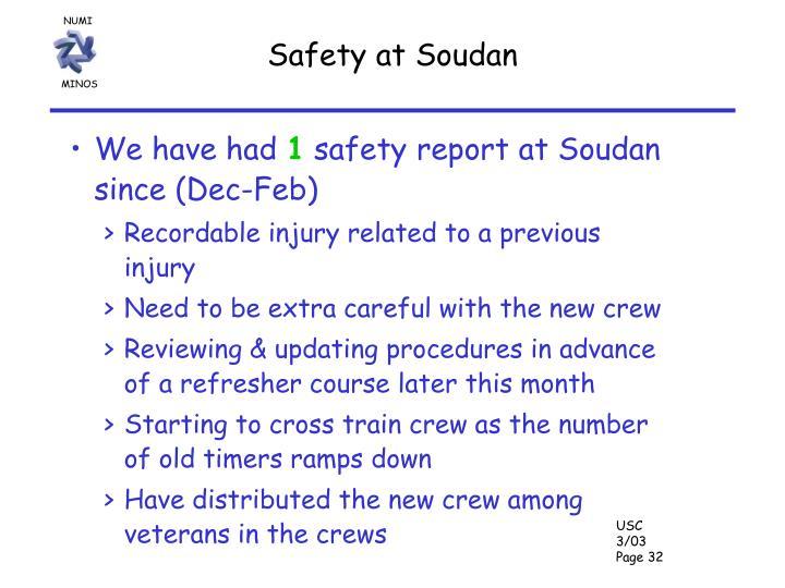 Safety at Soudan