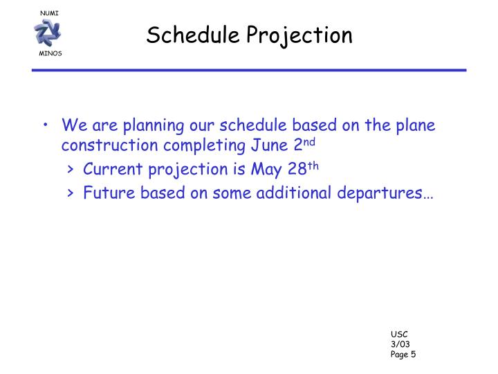 Schedule Projection