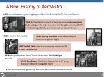 a brief history of aeroastro