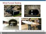 wind tunnel testing